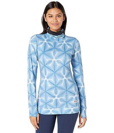 Burton Midweight Base Layer Long Neck Shirt (Blue Dailola Shibori) Women