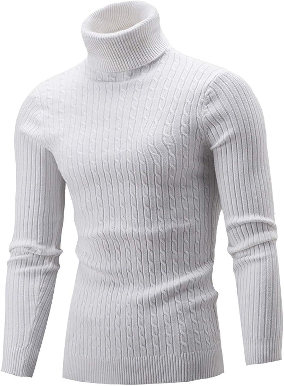 Chokovy Men's Chunky Max 74% OFF Sweaters Solid Knitwear Autumn Turtleneck free W