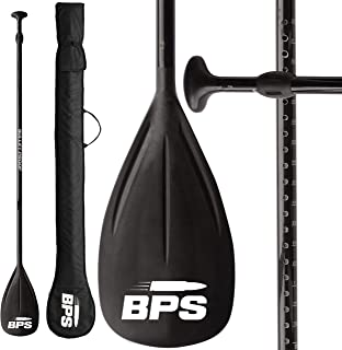 BPS Adjustable 2-Piece SUP/Stand Up Paddleboard Paddle - Carbon Fiber or Fiberglass - Comes with Carrying Bag - Available in Many Accent Colors