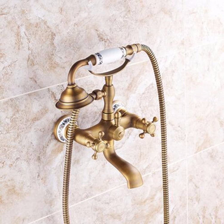 NewBorn Faucet Wasserhhne Warmes und Kaltes Wasser Super Qualitt Antike Einfache Dusche Badewanne Wasser Blau-Tiled Einfache Dusche Kit Tippen