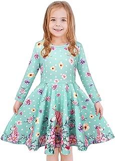 LaBeca Girls Dress Sleeveless Long Sleeve Kids Toddler Little Big Girl Unicorn Mermaid Casual Dresses