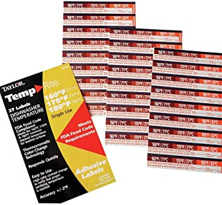 Taylor Precision 8769 TempRite Adhesive Dishwasher Label - 27 / PK