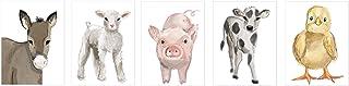 "Nursery Baby Farm Animals Unframed Prints- Set of 5 (8""x10"") - Decor - Wall Art - Prints - Watercolor"