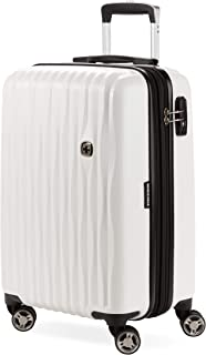 SWISSGEAR 7272 Energie Hardside Polycarbonate Spinner, Carry-On Luggage - White