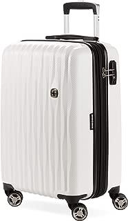 "7272 19"" USB Energie Hardside Polycarbonate Spinner Luggage - - White"
