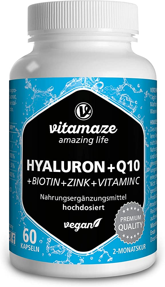 Vitamaze acido ialuronico puro piu` coenzima q10 60 compresse ad alto dosaggio 4260435481300