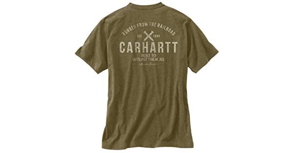 Carhartt Mens 103562 Maddock Outlast Graphic Short Sleeve Pocket T-Shirt