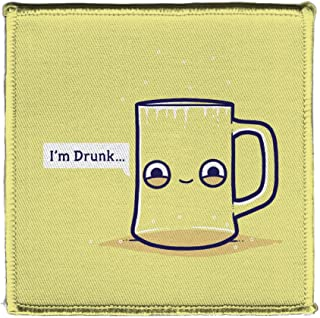 Randy Otter Drunk Empty Cup Pun Humor Iron On Patch