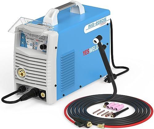 2021 YESWELDER Digital MIG-205DS sale MIG Welder&TIG 2021 Welding Torch WP-17V 13ft 150Amp Air Cooled Lift TIG Torch online sale