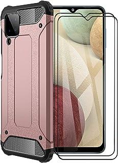 FINEONE® Funda para Samsung Galaxy A12, protección contra Golpes de TPU + PC Resistente a arañazos (Doble Capa) Carcasa pa...