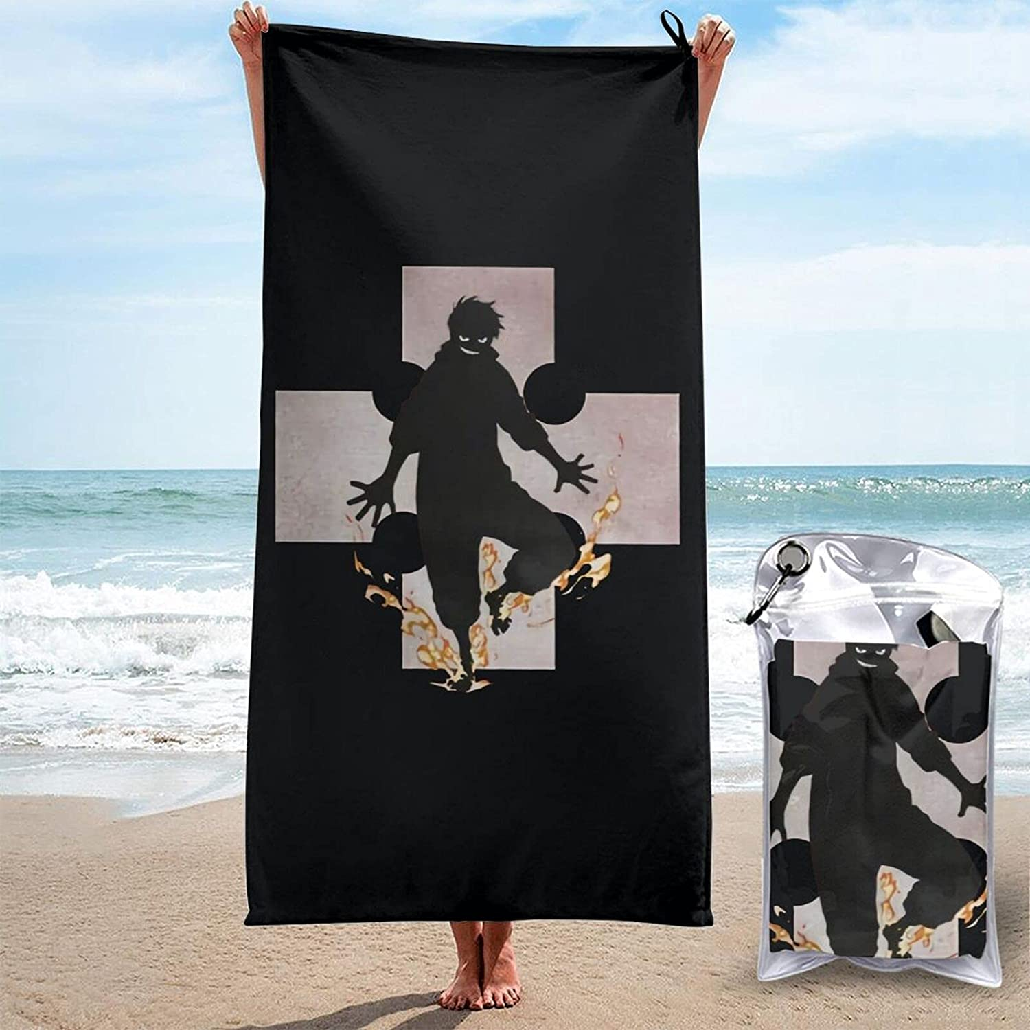 Fire Force 3D Printed Large Towels Quick-Dr mart are Beach Sand-Free Brand Cheap Sale Venue