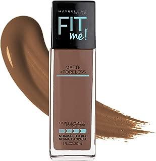 Maybelline Fit Me Matte + Poreless Liquid Foundation Makeup, Nutmeg, 1 fl. oz. Oil-Free Foundation