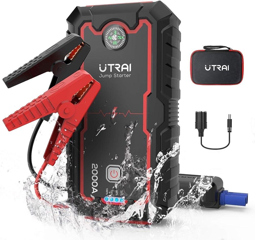 Utrai, avviatore batteria auto 2000a 22000mah, power starter portatile per auto moto torcia led jstar one JS-IT1