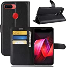 YKDY Litchi Texture Horizontal Flip Leather Case for OPPO R15 Pro, with Wallet & Holder & Card Slots (Black) (Color : Black)