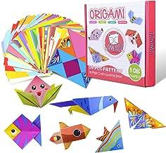 Gamenote Carta Origami, 118pcs Origami per Bambini Doppia Faccia Fogli Colorati di 54 Bellissimi Modelli Diversi con Manuale di Insegnamento Colorato - Set di Cartoncini Colorati