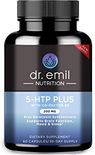 Dr. Emil Nutrition 200 MG 5-HTP Plus Serotonin Synthesizers and Cofactor B6 for Improved Serotonin Conversion for Serotoni...
