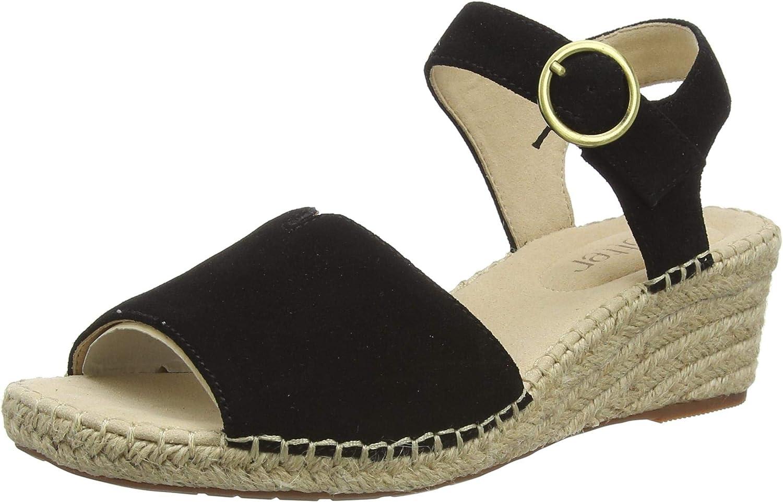 Hotter Women's Wedge Heeled Sandal , Black , 11 US
