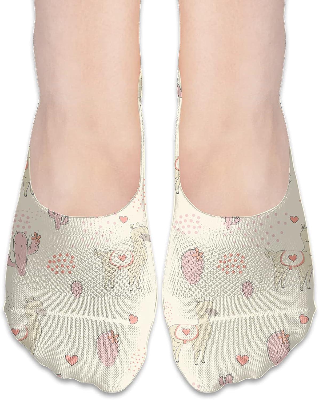 No Show Socks Women Men For Alpaca Llama Camel Cactus Love Flats Cotton Ultra Low Cut Liner Socks Non Slip