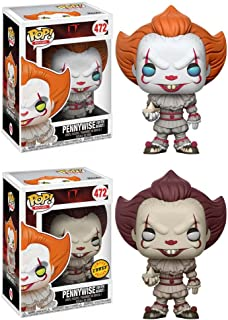 Funko POP! Movies IT: Pennywise with Boat LIMITED EDITION CHASE and Pennywise with Boat NON CHASE Toy Action Figures - 2 Pack BUNDLE