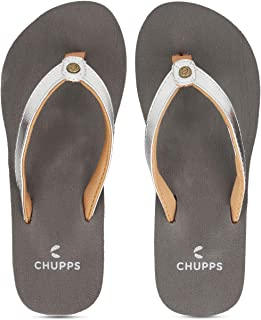 CHUPPS Women's GLITTER Grey / Silver Flip Flops