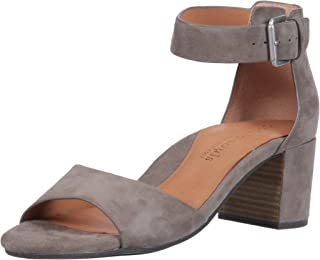 by Kenneth Cole Women's Christa Mid-Heel Sandal with Ankle Strap Sandal, cement, 7.5 M US