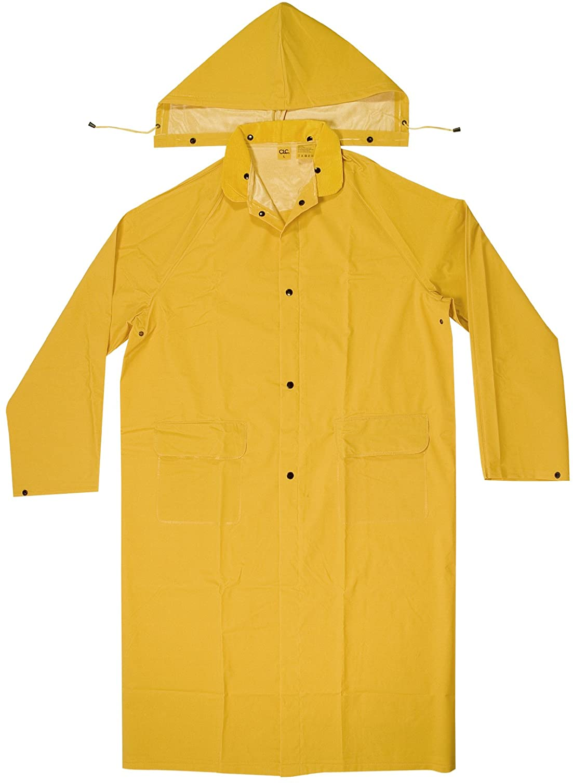 CLC Custom Leathercraft Rain Wear R105X .35 MM PVC Trench Coat, XLarge, Yellow