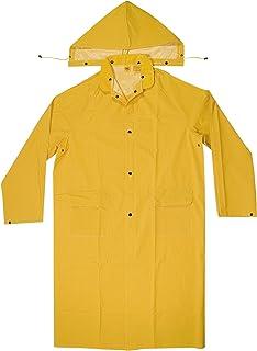پالتوی بارانی چرمی CLC سفارشی R105L .35 MM PVC سنگر PVC ، بزرگ ، زرد