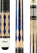 Lucasi Custom Super Birds-Eye Pool Cue with Blue Luster Inlays