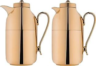 طقم ترمس للشاي والقهوة مكون من قطعتين من ديفا، اللون ذهبي، السعة 1.0/1.0 لتر