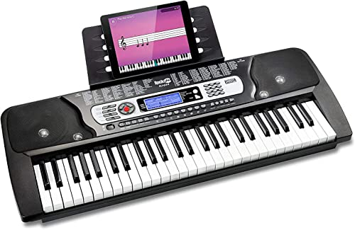 RockJam 54-Key Portable Electronic Keyboard with Interactive LCD Screen & Includes Piano Maestro Teaching App with 30...