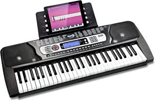 (Keyboard) - RockJam 54-Key Portable Electronic Keyboard with Interactive LCD Screen & Includes Piano Maestro Teaching App...