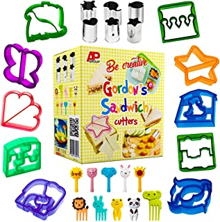 Sandwich Cutters for Kids | Funbite Food Cutter for Kids | Exciting and Innovative | Kids Friendly | 26 pieces set | Variant Sandwich Cutters | Vegetable and Cheese Stamps | Animal Shaped Food Picks |
