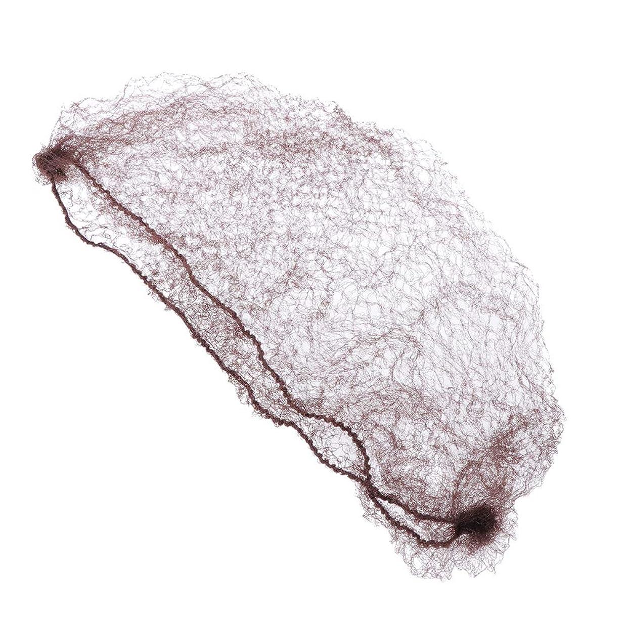 市民権存在する依存するSUPVOX かつらと髪を固定するコーヒーのための100個の目に見えない髪ネット弾性エッジメッシュ