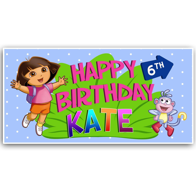 Amazon Com Dora The Explorer Birthday Banner Handmade Products