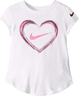 Digital Analog Heart Script Short Sleeve Tee (Toddler)