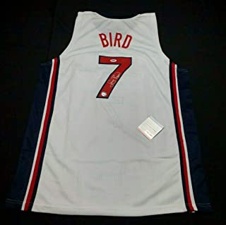 Larry Bird Autographed Signed Team Usa Basketball Jersey Dream Team PSA Z83649 - Certified Signature