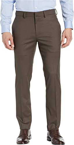 Stretch Shadow Check Slim Fit Dress Pants