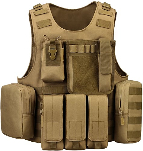 OXUN Combat Amphibie Camouflage Veste Tactique Field Module Gilet Véritable CS équipeHommest extérieur Armée Ventilateur Gilet