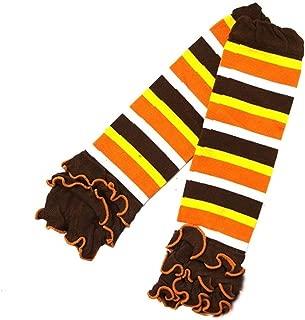 Baby Thanksgiving Halloween Stripes Ruffled Leg Warmers
