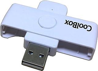 CoolBox pendrive lector DNIe Pocket - Lector de DNI electrónico portátil. Color blanco