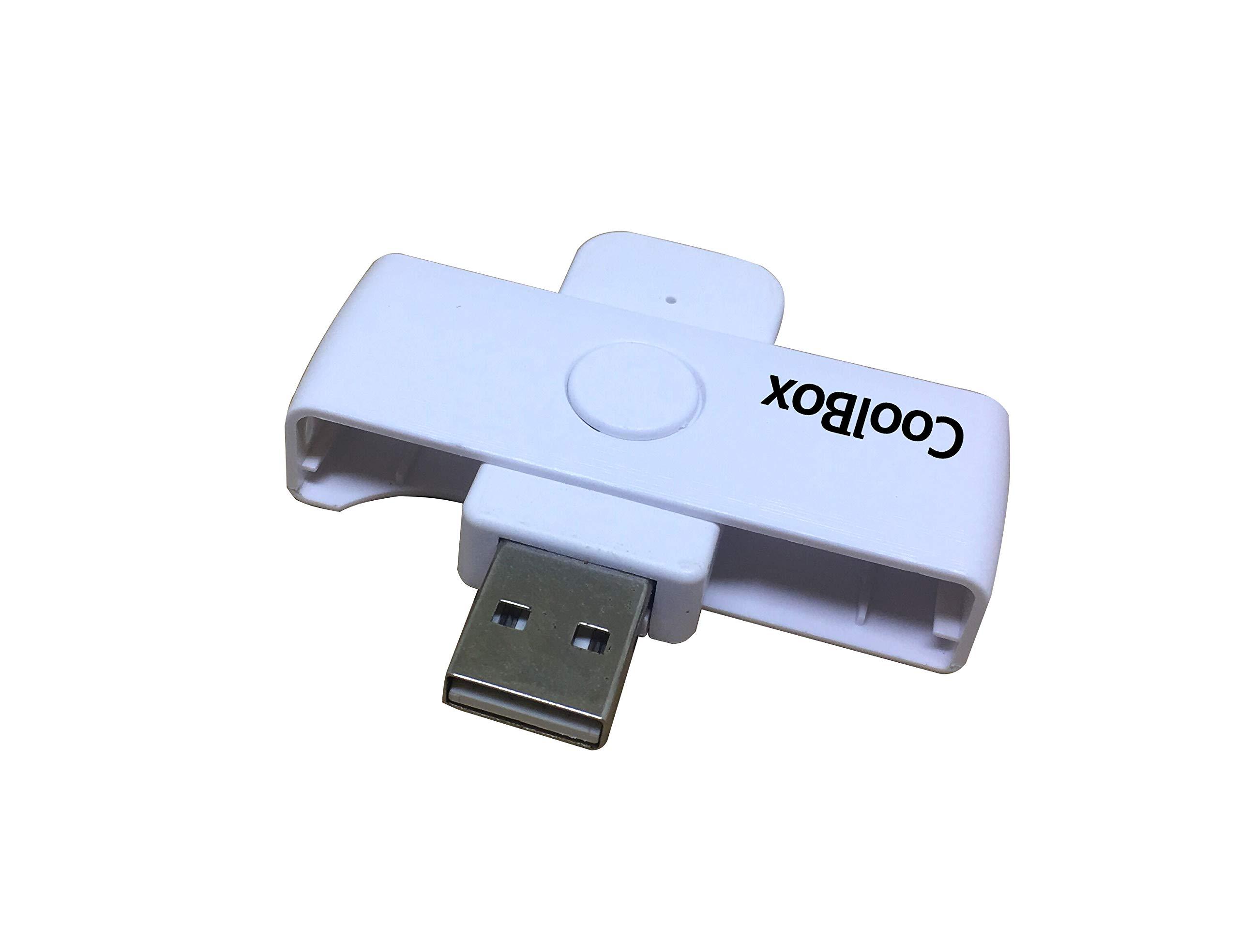 CoolBox pendrive lector DNIe Pocket - Lector de DNI electrónico portátil. Color blanco: Amazon.es: Bricolaje y herramientas