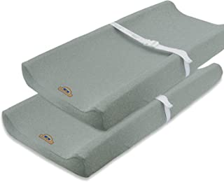 Super Soft and Stretchy Changing Pad Cover 2pk by BlueSnail (Gray)