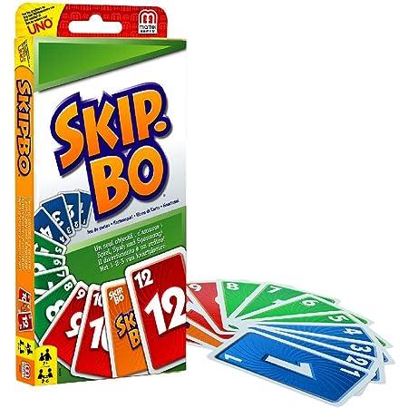 Mattel Games 52370 - Skip-Bo Kartenspiel und Familienspiel geeignet für 2 - 6 Spieler, Spiel ab 7 Jahren