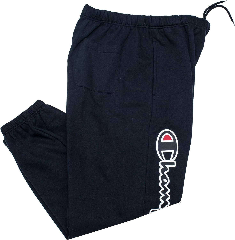 Champion Sweatpants for Men Big and Tall Cotton Fleece Jogger Sweatpants