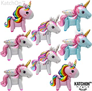 Unicorn Party Supplies Balloons - Pack of 8 Cute Unicorn Ballon 34 Inch   Pastel Rainbow Unicorn Party Supplies for Birthday Party and Baby Shower Party Decorations   Mylar Unicorn Birthday Balloons