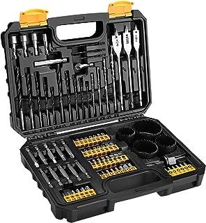 DEKO Drill & Screwdriver Bit Accessory Set (85 Pieces Drill Bit Set), Includes HSS Drill bits, Masonry Drill Bits & Screwdriver Bits (CRV) in Storage Case