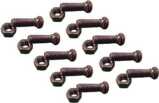 Plow Bolts Grade 8 Steel 1-1//4-7 X 6 5 pcs Dome Head #3 Head Zinc