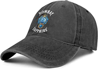 Bombay-Sapphire-Wine- Womens Mens Printed Hat Baseball Cap Military Cap Trucker Hat for Cycling