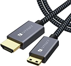 Mini HDMI to HDMI Cable, Ivanky High Speed 4K 60Hz Male to Male HDR HDMI 2.0 Adapter,Compatible with Sony HDR-XR50, Nikon Z6 Canon EOS RP/EOS R/EOS 7D Mark II / XA40,Lenovo Thinkpad Yoga, 6 ft