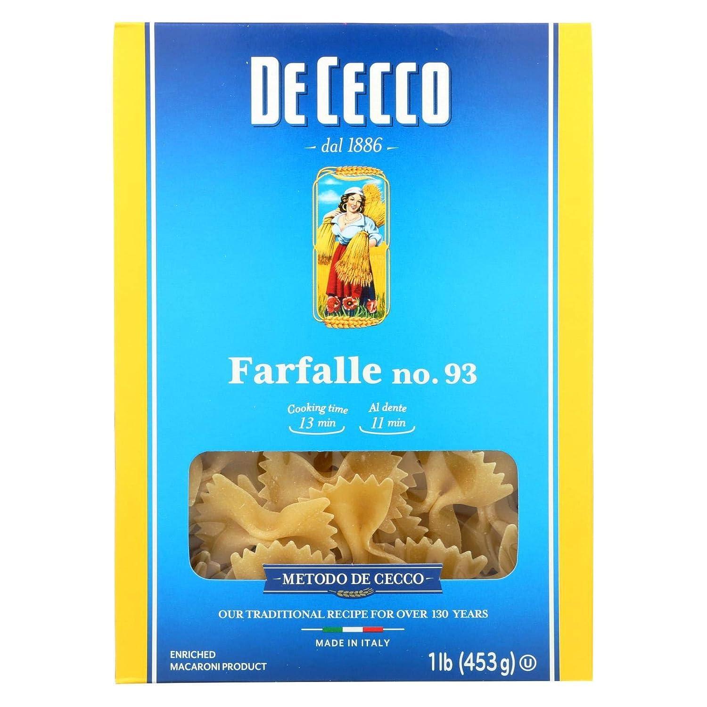DeCecco Pasta Farfalle 16.0 Austin Mall 12 OZ of New life Pack